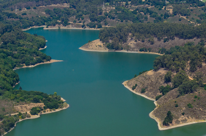 Lake Chabot Aerial Image East Bay - J709248