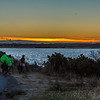 Cyclists enjoying the sunset.