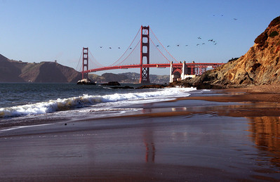 Golden Bate Bridge from Baker Beach
