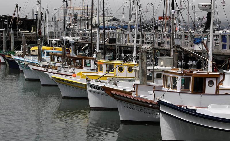 Small fishing boats - San Francisco Bay