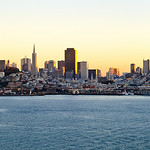 San Francisco Cityscape at Sunset. Shot from Alcatraz
