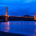 Golden Gate Bridge at Dusk.  San Francisco, California