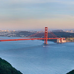 San Francisco Cityscape and Skyline and Golden Gate Bridge from the Marin Headlands Panorama