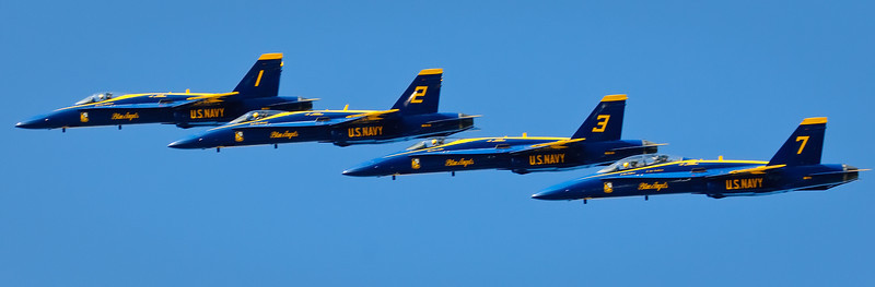 At Jet level.  This looks like I was flying along side the Blue Angels!   Fleet Week San Francisco 2009