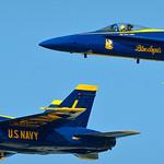 Pair of Blue Angels in tight.  Fleet Week San Francisco 2009