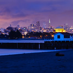 San Francisco Skyline at Night from Crissy Field.