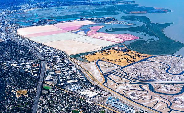 Colorful Salt Ponds