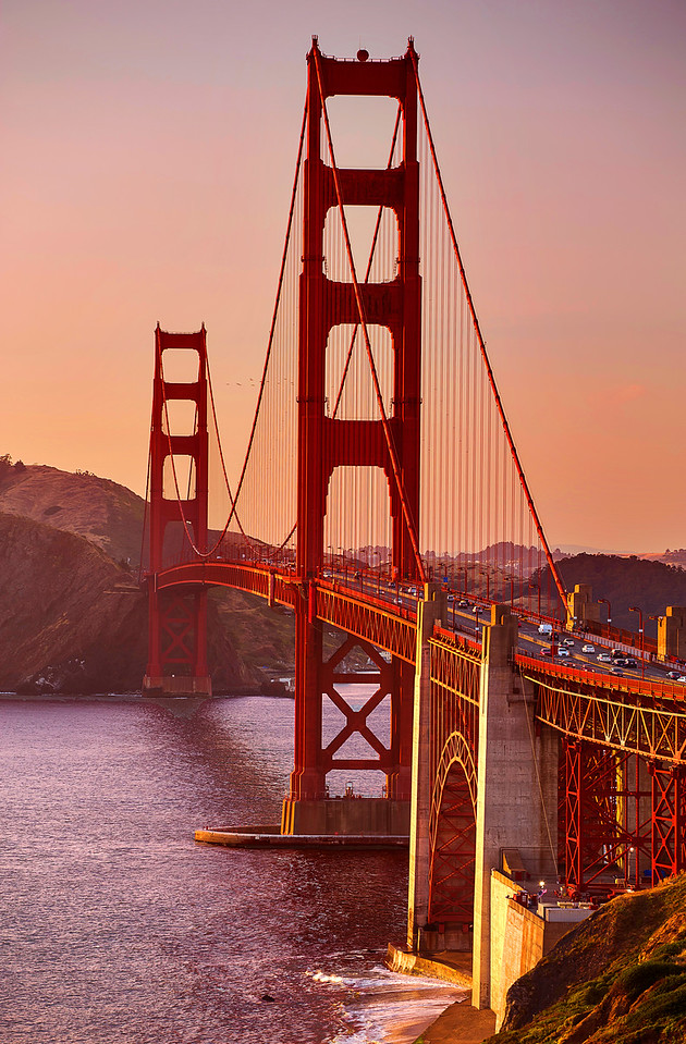 California, Golden Gate Bridge, San Francisco, Sunset, 旧金山, 落日, 金门大桥