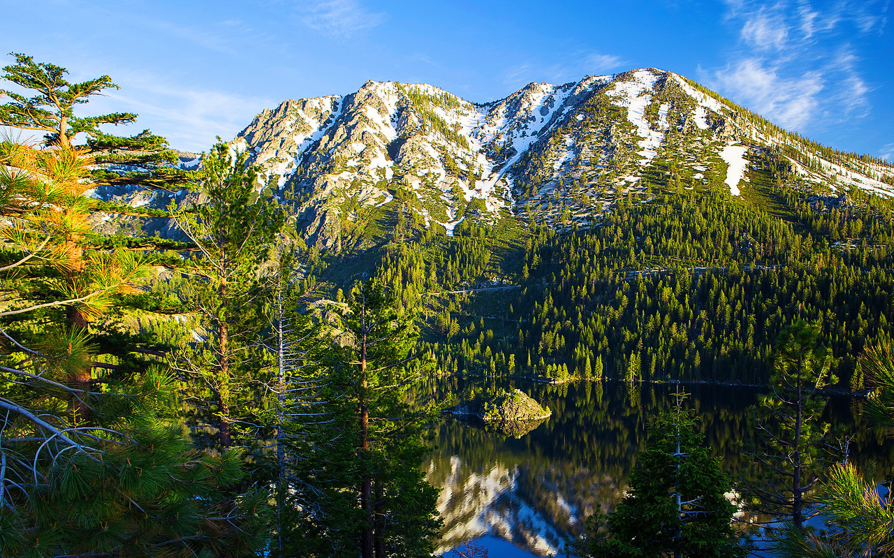California; Emerald Bay State Park; Lake Tahoe; 加利福尼亚; 太浩湖; 翡翠湾公园