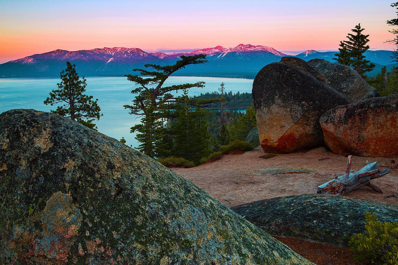 California; Emerald Bay State Park; Lake Tahoe; Sunset; 加利福尼亚; 太浩湖; 翡翠湾公园; 落日