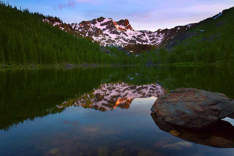 California, Lower Sardine Lake, Sunset, Tahoe Sierra, Sierra Butte,下沙丁湖, 加利福尼亚, 日落