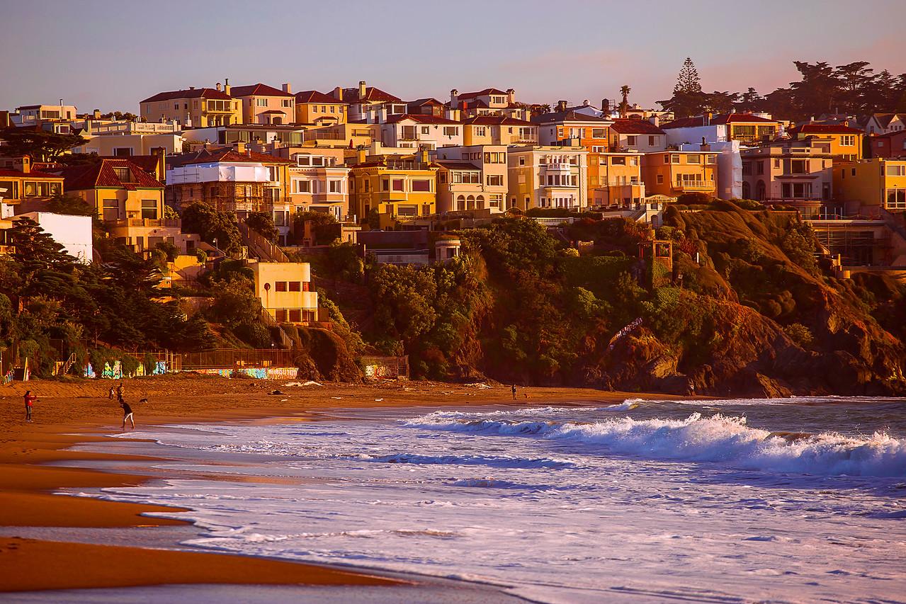 California, San Francisco, Sunset, 旧金山, 落日