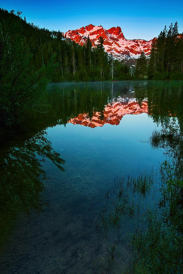 California, Sand Pond, Sunrise, Tahoe Sierra, 下沙丁湖, 加利福尼亚, 日出