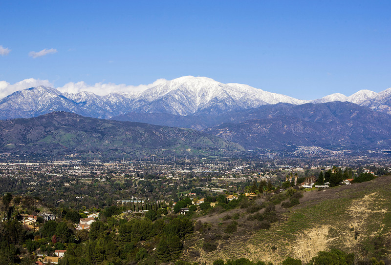 Mt. Baldy in all its glory after a nice snowfall earlier this morning.