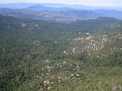 View of Idyllwild from Suicide Rock, Idyllwild, CA, 23 Jun 2007