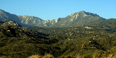 Highway 74, White Post Turn: Lily Rock and Tahquitz Peak, 21 Jun 2009