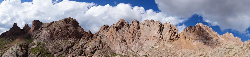 Sunlight Peak (right) and its rugged west ridge; Colorado San Juans.
