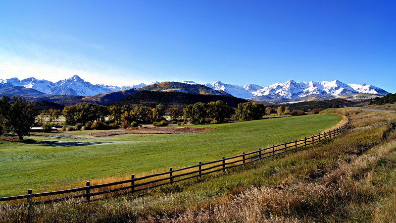 The RL Ranch beneath the Sneffels Range along the Dallas Divide, Colorado San Juans.