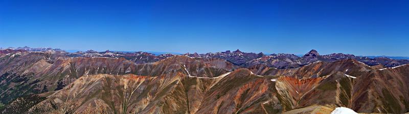 The vast northwest expanse of the San Juan mountains, Colorado.