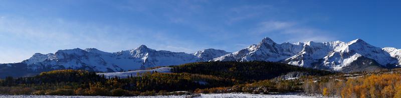A cold autumn morning at the Dallas Divide, Colorado San Juan Range.