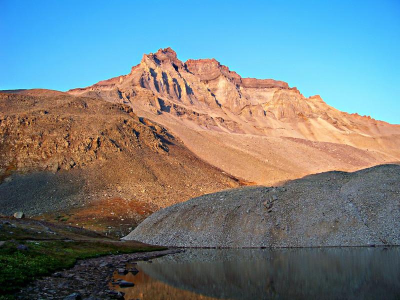 Lake reflection beneath Gilpin Peak, Colorado San Juan Range