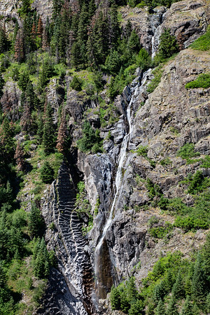 Waterfall in Uncompahgre River Canyon South of Ouray, Colorado