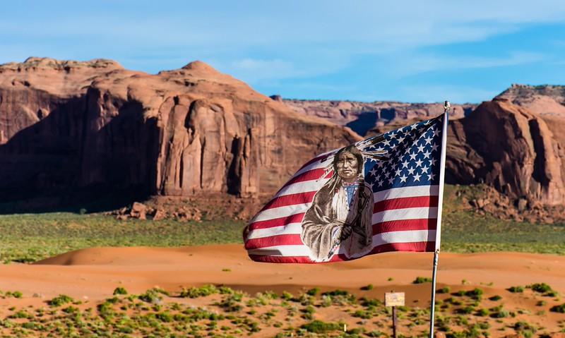 Traveling through Navajo land en route to Colorado