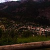 View of Ouray at sunset