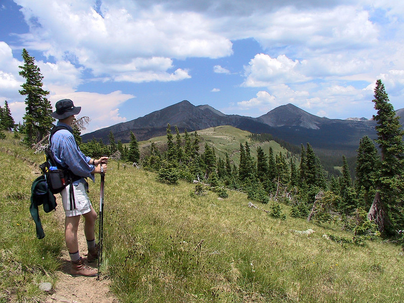 Into the wilderness!  There are many beautiful hiking trails in the Pecos wilderness outside Santa Fe.