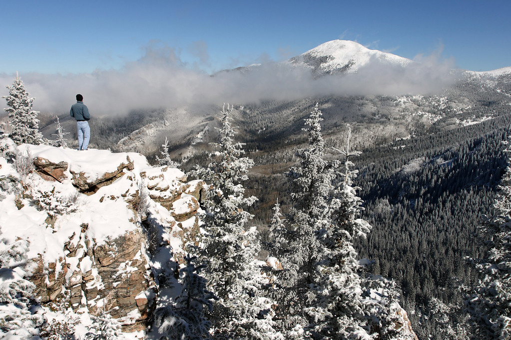 Early November snow - view of Santa Fe Baldy #2