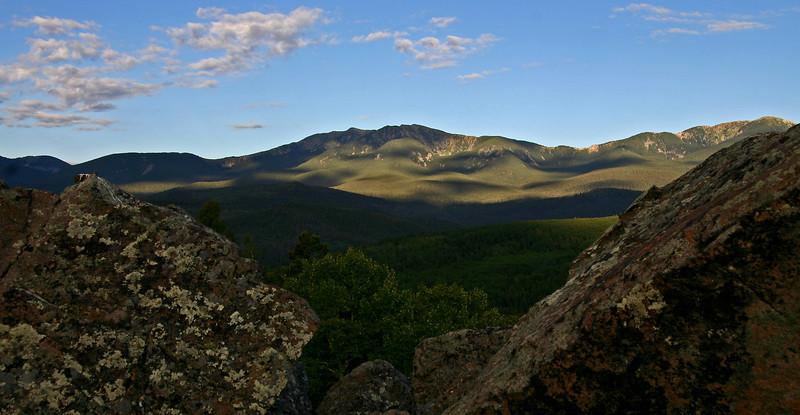 First light in the Sangre de Cristo Mountains