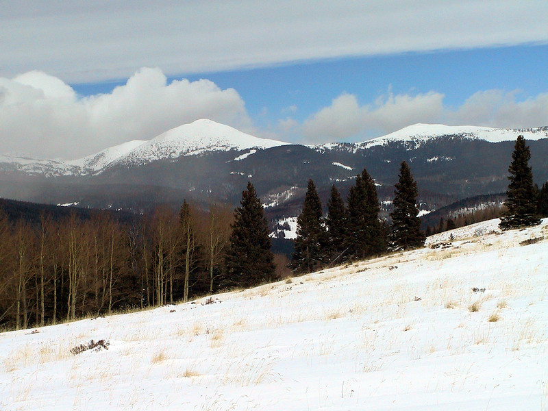 The Pecos wilderness in winter.