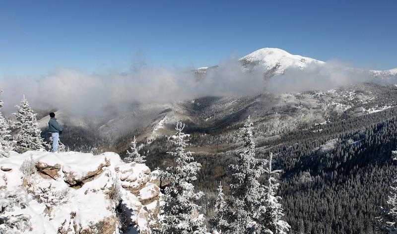 Early November snow - view of Santa Fe Baldy #1