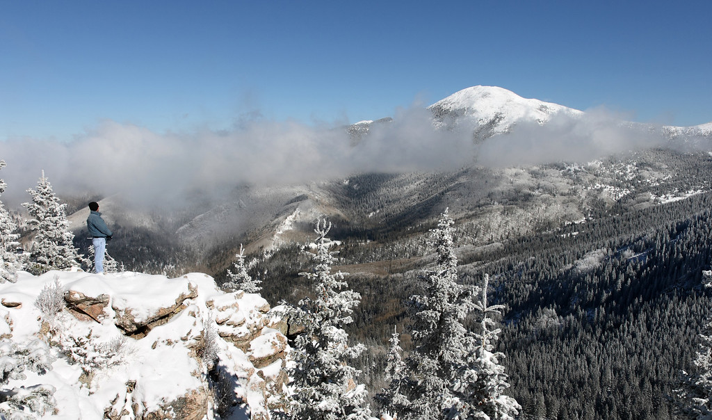 Early November snow - view of Santa Fe Baldy #1