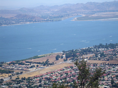 Lake Elsinore from Ortega Highway overlook, 20 Aug 2006