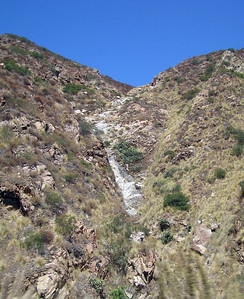 Dry waterfall, San Juan Creek crossing at Ortega Highway east of Hot Springs Canyon, 20 Aug 2006