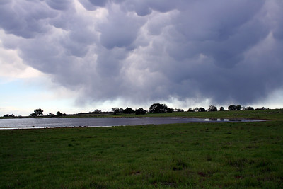 Mammatus clouds over vernal pool at Santa Rosa Plateau Ecological Reserve, 16 Mar 2008