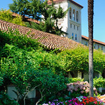 Gardens around the Mission Santa Clara at Santa Clara University
