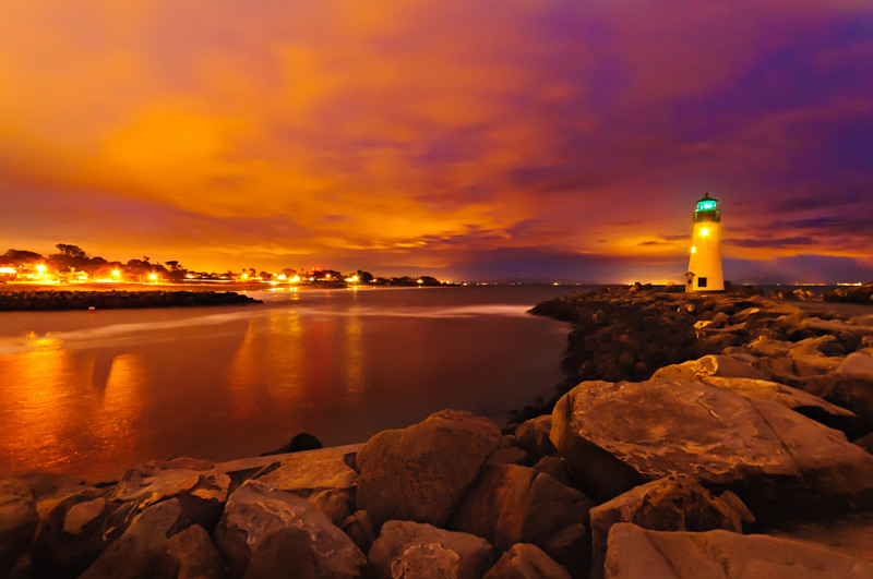 Walton Lighthouse in Santa Cruz, also known as the Santa Cruz Harbor Light. This was shot after sunset and the colors just continued to glow! Most photographers usually pack up and go home but if you keep shooting after sundown you can capture some interesting things!