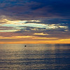 """Alone""  Sunset in Santa Cruz along the California Coast."