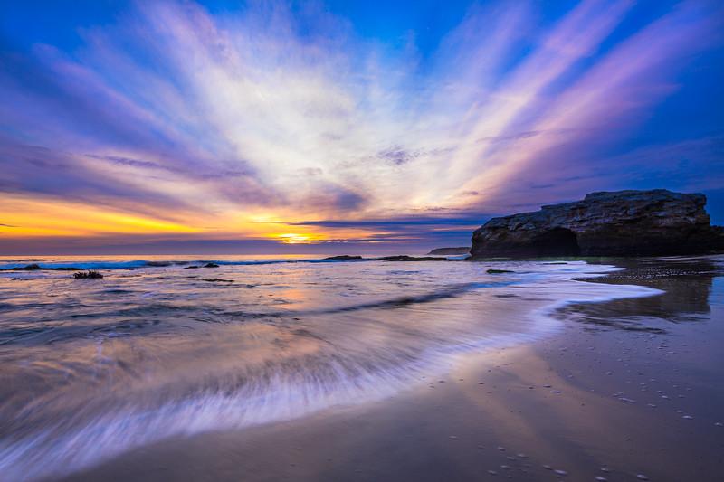 """Rays of Light at Sunset"" Natural Bridges State Park, California"