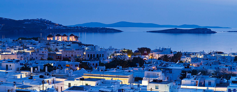 Landmark windmills of Mykonos.