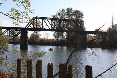 Train bridge in Snohomish