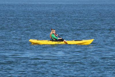 kayaking in Sausalito in the harbor.
