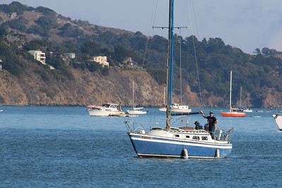 Boating in Sausalito in the San Francisco Bay Area.