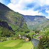 Beautiful Norwegian Landscape taken at Flam (Norwegian: Flamsbana), Aurland.