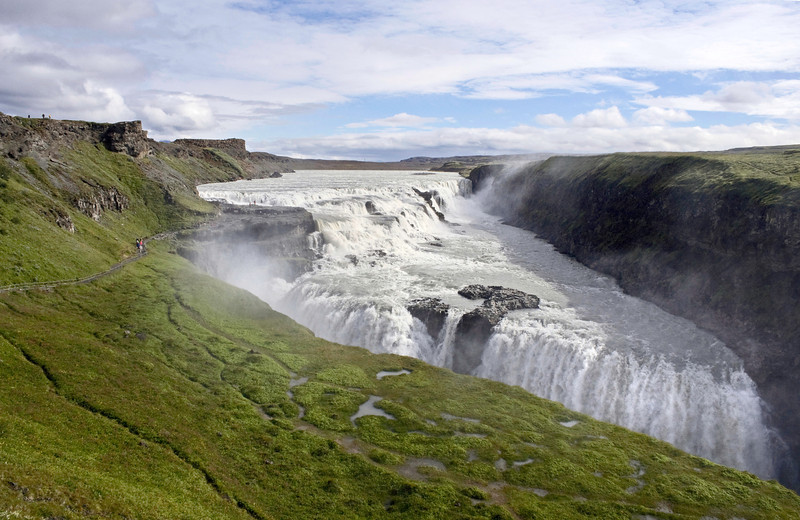 Gulfoss waterfall, iceland at Summer.