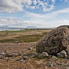 Large boulder near to the Northern town of Akureyri, Iceland.