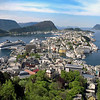 Alesund, Norway on a clear sunny day at summer.