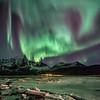 Aurora Borealis over Stortinden